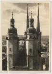 AK Foto Halle Saale Marktkirche vom Roten Turm aus gesehen 1939