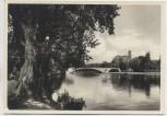 AK Foto Halle Saale Blick nach der Burgruine Giebichenstein 1940
