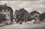 AK Münsingen Truppenübungsplatz Eingang zum alten Lager 1955