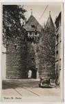 AK Foto Neuss am Rhein Obertor mit Auto 1940