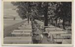 AK Düsseldorf Hamm Hecker's Gartenlokal mit Brücke 1935