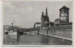 AK Düsseldorf Rheinpartie mit Schloßturm und Düsselschlößchen mit Schiff Feldpost 1939