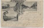 AK Zeithain Truppen-Übungsplatz Senfft-Strasse Lazareth König-Albert-Strasse 1903