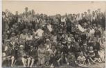 AK Foto Nordseebad Büsum Gruppenbild viele Menschen 1922