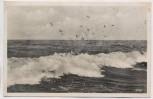 AK Foto Deep Küstenlandschaft Mrzeżyno b. Greifenberg Gryfice Briefstempel Schießstab Flakbrigade VIII. Pommern Polen Feldpost 1941