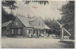 AK Friedrichroda Gasthaus Heuberg viele Menschen 1914