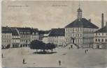 VERKAUFT !!!   AK Bischofswerda in Sachsen Markt mit Rathaus Marktplatz 1913