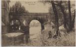AK Frankfurt am Main Alte Brücke seltene Ansicht 1915