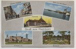 AK Gruß aus Hamborn Schacht Bahnhof Weseler Strasse Stadtpark Duisburg 1920