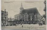 AK Reichenbach im Vogtland St. Peter-Paul's-Kirche mit Menschen 1924