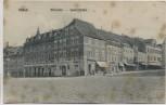 AK Oschatz Altmarkt Sporerstraße mit Cafe und Menschen 1906