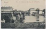 AK Grimma Partie mit Muldenbrücke Kgl. Amtsgericht und Schützenhaus 1916 RAR