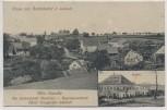 VERKAUFT !!!   AK Gruss aus Berthelsdorf b. Liebstadt Sächs. Schweiz Ortsansicht mit Gasthof und Werbung 1915 RAR