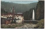AK Höllental Frankenwald Holzschleiferei mit Fontaine bei Lichtenberg Oberfranken 1916