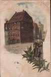 Litho Nürnberg Albrecht Dürer Haus u. Denkmal 1898