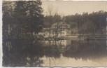 AK Foto Bad Düben Heide-Gasthof Eisenhammer mit Autos 1930