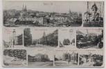 AK Mehrbild Hof in Bayern Saale Bahnhof Wörthstrasse Bismarckstrasse ... 1918