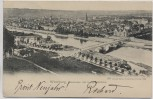 AK Würzburg Panorama mit Luitpoldbrücke 1899