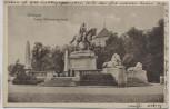 AK Stuttgart Kaiser Wilhelm-Denkmal mit Menschen 1918