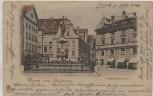 AK Gruss aus Augsburg Augustusbrunnen 1899
