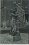AK Braunschweig Statue vor dem Vaterländischen Museum 1915