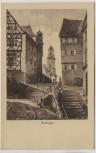 Künstler-AK Hechingen mit Treppe und Kirche Verlag Hermann Daiker 1920