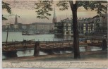 VERKAUFT !!!   AK Hamburg Alsterpavillon und Alsterdamm 1904