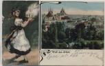 AK Gruß aus Erfurt Frau mit Klösen Ortsansicht Reservelazarett Tivoli Feldpost 1915