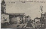 AK Karlsruhe Marktplatz mit Pyramide und Laterne 1909