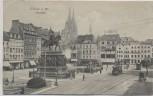 AK Cöln am Rhein Köln Heumarkt mit Strassenbahn 1910