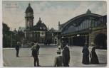 AK Köln am Rhein Hauptbahnhof viele Menschen 1906