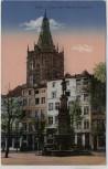 AK Köln am Rhein Jean von Werth-Denkmal mit Rathausturm Feldpost 1917