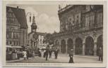 AK Bremen Marktplatz mit Rats-Cafe Roland und Rathaus mit Menschen 1912