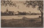 AK Hanau Kesselstadt Schloß Philippsruhe mit Ruderboot 1912