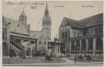AK Braunschweig Am Burgplatz 1914