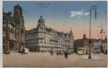 AK Frankfurt am Main Bahnhofsplatz mit Straßenbahn 1918