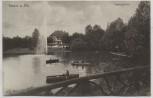 AK Neuss am Rhein Stadtgarten mit Booten Feldpost 1916