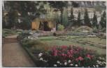 AK Foto Stuttgart Offizielle Postkarte Nr. 18 Württbg. Gartenbauaustellung Der schöne Garten 1924