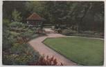 AK Foto Stuttgart Offizielle Postkarte Nr. 16 Württbg. Gartenbauaustellung Eitel's Farbengarten 1924
