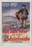 Künstler-AK 400 Jahrfeier Schönheide im Erzgebirge Sitz der Bürstenindustrie Sonderstempel 1937 RAR