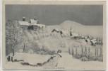 AK Schloss Iburg mit Ortsansicht im Winter 1910