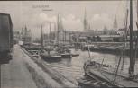 VERKAUFT !!!   AK Duisburg Hafenpartie viele Schiffe 1907 Sammlerstück