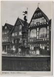 AK Foto Fritzlar an der Eder Rolandbrunnen mit Restaurant und Cafe 1940