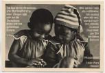AK Foto 2 Kinder betend mit Versen Glaube Religion 1930