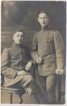VERKAUFT !!!   AK Foto 2 junge Soldaten 1.WK Atelier G. Seeber Chemnitz Theaterstrasse 1915