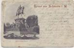 AK Gruss aus Schwerin Denkmal Friedrich Franz II. 1904