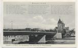 AK Liedkarte Foto Hameln a. d. Weser mit Weserbrücke und Blick auf die Münsterkirche Weser-Lied 1940