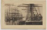 Präge-AK Hamburg Indiahafen mit Segelschiffen 1910