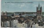 AK Köln Hohenzollernbrücke Altermarkt und Groß St. Martin Separabel-Postkarte 1915