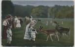 AK Hannover Im Tiergarten Menschen mit Wild Feldpost 1917